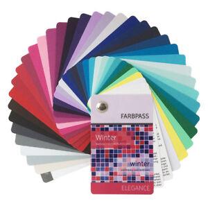"""Farbpass Winter mit 35 Farben """"Elegance"""" zur Farbberatung - Farbfächer Wintertyp"""