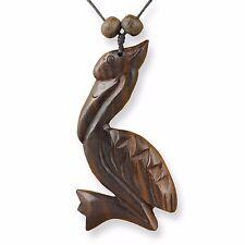 Halskette Anhänger Pelikan Holz Amulett längenverstellbar Handarbeit N294