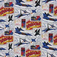 Ken Krug Lizenziert Druck Kampfflugzeug Comic Streifen Flanell Stoff 114cm x