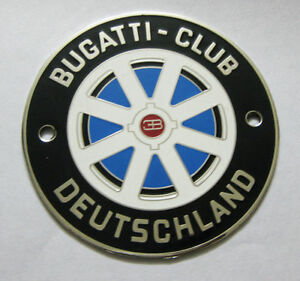 BUGATI CLUB DEUTSCHLAND CAR GRILL BADGE ENAMLED LOGOS METAL CAR BADGE EMBLEM