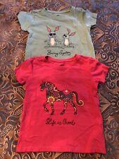 Lot Of 2 Life is Good T Shirt Bunny System, Rainbow Unicorn Girls size 4T