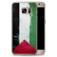 Samsung Galaxy S7 edge - Hard Case Hülle - Palästina Grunge Palestina Motiv Des