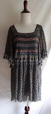 Free People S Boho Embroidered Lace Beaded Embellished Festival Gypsy Dress