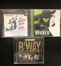 """Lot of 3 Broadway Classics CD""""s Wicked, the Music Man & More"""