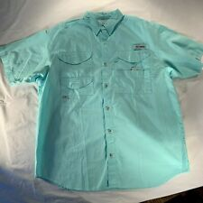 Columbia Shirt Pfg Mens L Large Performance Fishing Gear Casual Camping Outdoor