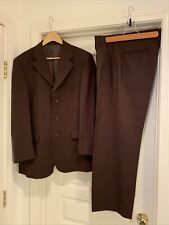 "Men's Lucci Collezione Brown Suit, 38R Coat and 32R Matching Pants 28"" Inseam"