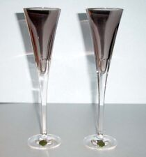 Waterford W Collection Shale Grey Crystal Champagne Flute Pair 40030961 New