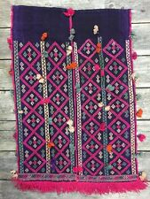 Moroccan Style Hand Woven Art Tapestry Wall Hanging & Tassels Wool