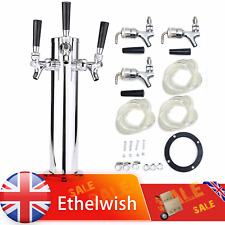 More details for 3 - taps stainless steel beer tower faucets triple tap home homebrew bar sliver