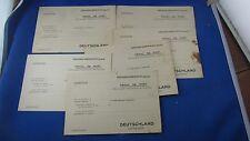 6 cartes franchise militaire deutschland vierge kriegsgefangenenpost