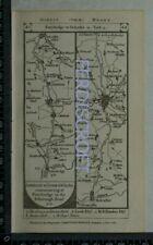 1785 Paterson Strip Map - Ferrybridge,Tadcaster,York,New Malton, Pickering......