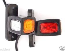 2x Red White Amber Side Rear Marker 24V LED Lights Outline Lamps Truck Trailer