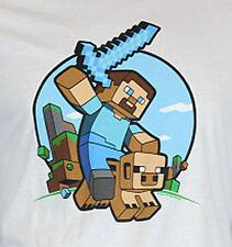 Minecraft White T-Shirt Adult XL NEW