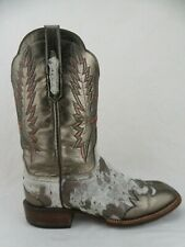 LUCCHESE BOOTS Cowgirl Gold/Cowhide Square Toe 11 B Women Metalic Cowboy Boots