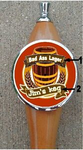Custom Personalized Beer Tap Handle knob tapper Kegerator ADD YOU TEXT!
