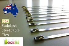 Cable Ties Pack of 50 Stainless Steel (SS 304) Cable Ties Heavy duty 7.9 x 800mm
