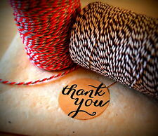120 Thank You Labels, Stickers, Kraft Favour Thank you Stickers, Wedding Favours