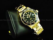 Invicta Men Submariner Pro Diver 24J Automatic Exhibition 18K Gold Pl SS Watch