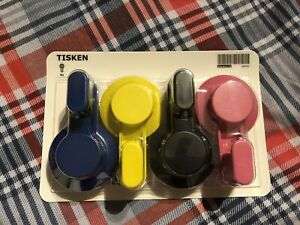 NEW IKEA Tisken Bathroom Hooks with Suction Cup x4, Coloured