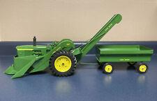 Vintage 1960's Ertl John Deere 3010 w/ Picker & Wagon Toy 1/16th - Restored