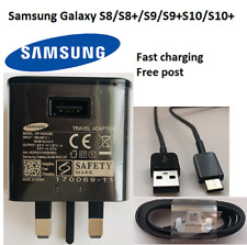 100%Genuine Samsung Galaxy Fast Charger Plug & cable S10 S9 S9+S8 A3 A5 Note 8 9