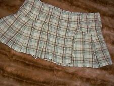 abercrombie girls skirt size 10 tan plaid pleated mini skirt