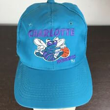 Vintage 1990's Charlotte Hornets Snapback Cap Hat NBA Youngan