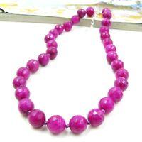 Edle pink Rubin Kette Halskette Collier necklace neu P653