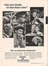 WGN Chicago 1965 Ad- Barn Dance