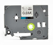 TZe TZ-131 P-Touch Label Tape Black On Clear Compatible Brother Laminated 12mm