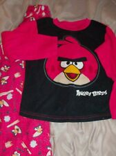 Angry Bird Pajamas Size 8 Boys Or Girls Winter 2 piece Long Sleeve w Pants
