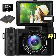 Digital Camera Vlogging Camera 30MP Full HD 2.7K Vlog Camera with Flip Screen 3