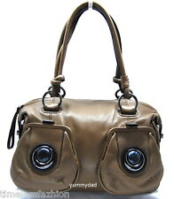 MIMCO MOD MARBLE BUTTON ZIP TOP LEATHER BAG IN ELEPHANT BNWT RRP$450
