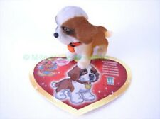 Figurine OTTO ou STELLA le Saint-Bernard + sa carte - Puppy  in my Pocket Série