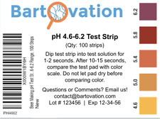 Beer pH Test Strip 4.6-6.2 100 Test Strip Papers