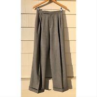 Ralph Lauren Collection Purple Label Heather Gray Wool Pleated Cuffed Pants 6