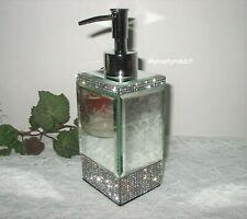 Bella Lux Soap Dispenser - Mirror Sides & Rhinestones - New