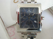 mans stainless steel CYMA grand imperium chronograph watch.   bx 044