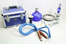 Hypnosis Blue Glass Hookah With Hose And Carrying Case (LOC 44H)
