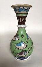 Islamic Turkish Iznik Pottery Fish Vase
