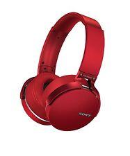 Sony MDRXB950BT/R Extra Bass Bluetooth Headphones, Red