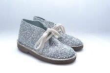 Stunning Girls Crewcuts Silver Glitter Boots Size 9 (kids) Made in Italy