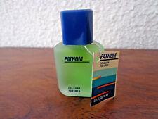 Vintage FATHOM COLOGNE for Men by MEM Miniature Full Bottle NEW  .5 OZ 1/2 Ounce