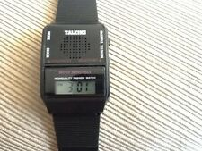English Talking Watch w/Alarm blind visually impaired. 3 FREE BATTERY