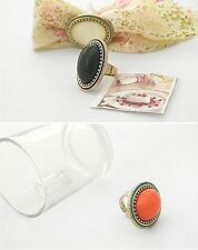 Acrylic Statement Oval Costume Rings