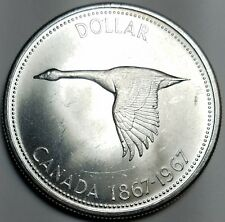 1867-1967 CANADA $1 MS / UNC-KM 70-FREE US SHIP-.800 SILVER! ONE DOLLAR SILVER