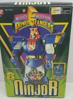 Mighty Morphin Power Rangers Deluxe Auto Morphin Ninjor With Instructions & Box!