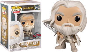 FUNKO POP MOVIES THE LORD OF THE RINGS #845 GANDALF THE WHITE VINYL FIGURE 🤑