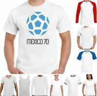 Mexico 70 T-Shirt Football Retro 1970 World Cup Logo Soccer Top England Kit