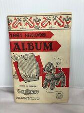 1961 Needlework Album Paper Back Book